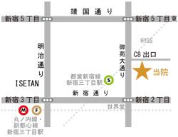 地図 新宿院